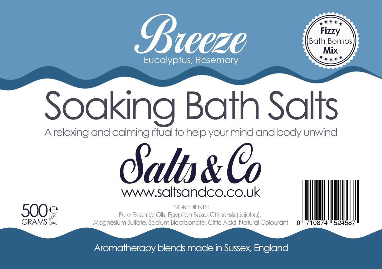 Breeze Bath Salts Eucalyptus Rosemary Oils Salts Co