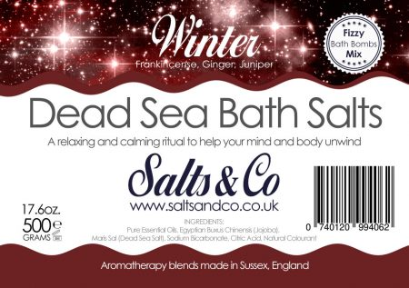 Winter Dead Sea Salts - Frankincense, Ginger & Juniper Essential Oils